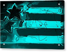 Max Stars And Stripes In Turquois Acrylic Print by Rob Hans