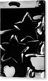 Max Two Stars In Black And White Acrylic Print by Rob Hans