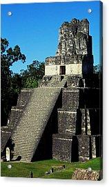 Mayan Ruins - Tikal Guatemala Acrylic Print by Juergen Weiss