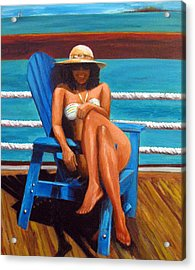 Mayi Caribe - I Wish You Were Here Acrylic Print by Patricia Awapara