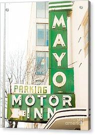 Mayo Motor Acrylic Print by Sonja Quintero