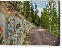 Mazama Suspension Bridge Trail Acrylic Print by Omaste Witkowski
