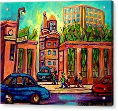 Mcgill University Roddick Gates Montreal Acrylic Print by Carole Spandau