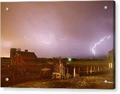 Mcintosh Farm Lightning Thunderstorm View Acrylic Print by James BO  Insogna