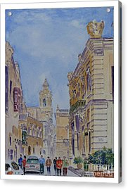 Mdina Malta Acrylic Print by Godwin Cassar