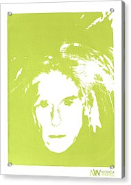Me And Andy Acrylic Print by Monica Warhol