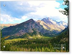 Meadow And Mountains Acrylic Print by Kathleen Struckle
