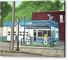 Mecanique Amical Inc. Pointe St. Charles Acrylic Print by Reb Frost