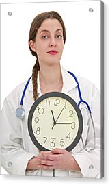 Medical Time Acrylic Print by Lea Paterson