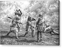 Medieval Battle Acrylic Print by Jaroslaw Grudzinski