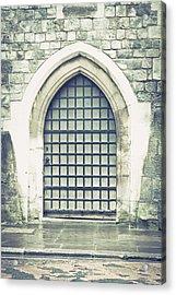 Medieval Door Acrylic Print by Tom Gowanlock