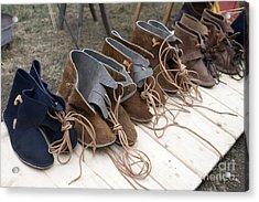 Medieval Fashion Shoes Acrylic Print by Ladi  Kirn