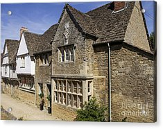 Medieval Houses In Lacock Village Acrylic Print by Patricia Hofmeester