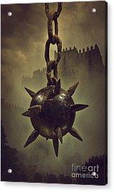 Medieval Spike Ball  Acrylic Print by Carlos Caetano
