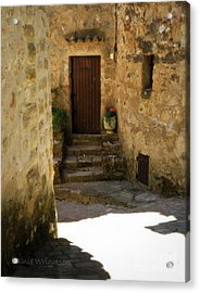 Medieval Village Street Acrylic Print by Lainie Wrightson
