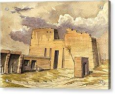Medinet Temple Egypt Acrylic Print by Juan  Bosco