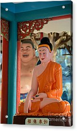 Meditating Buddha In Lotus Position Acrylic Print by Imran Ahmed
