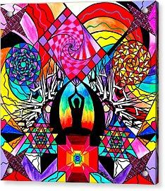 Meditation Aid Acrylic Print by Teal Swan