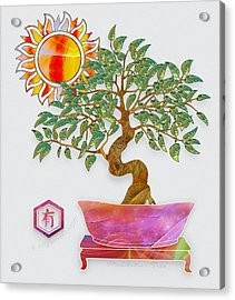 Meditation Tree Acrylic Print by Gayle Odsather