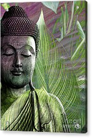 Meditation Vegetation Acrylic Print by Christopher Beikmann