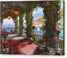 Mediterranean Veranda Acrylic Print by Dominic Davison