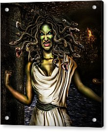 Medusa Acrylic Print by Alessandro Della Pietra