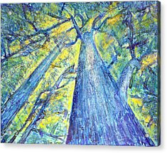 Meet Me By The Tree Acrylic Print by Tim Leung