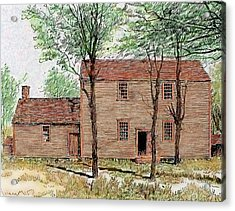 Meeting House Of The Quakers Acrylic Print by Prisma Archivo
