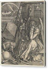 Melancholia I Acrylic Print by Albrecht Durer