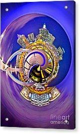Melbourne City Skyline Circagraph 2 Acrylic Print by Az Jackson