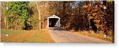 Melcher Covered Bridge Parke Co In Usa Acrylic Print by Panoramic Images