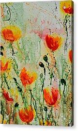 Melody Of Spring- Flower Acrylic Print by Ismeta Gruenwald