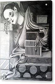 Melting Girl Acrylic Print by Ava Dahm