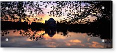 Memorial At The Waterfront, Jefferson Acrylic Print by Panoramic Images