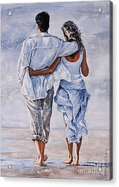 Memories Of Love Acrylic Print by Emerico Imre Toth