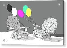 Chair Talk Acrylic Print by Tom Dickson