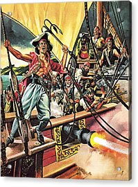 Men Of The Jolly Roger Acrylic Print by Ron Embleton