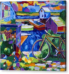 Menemsha At The Top Of The Stairs Acrylic Print by Michael Phelps Morse