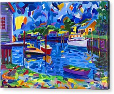 Menemsha Row Boat Acrylic Print by Michael Phelps Morse