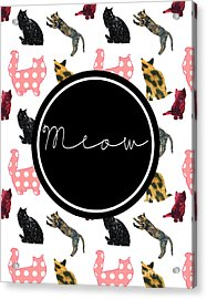 Meow Acrylic Print by Pati Photography