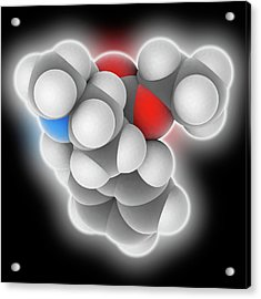 Meperidine Drug Molecule Acrylic Print by Laguna Design