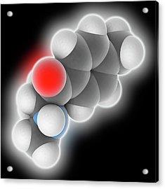 Mephedrone Drug Molecule Acrylic Print by Laguna Design