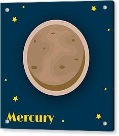 Mercury Acrylic Print by Christy Beckwith