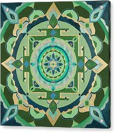 Mercury Yantra Acrylic Print by Sandra Petra Art