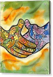 Association Acrylic Print by Leon Zernitsky