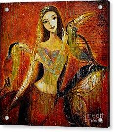 Mermaid Bride Acrylic Print by Shijun Munns