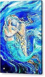 Mermaid Dreamer  Acrylic Print by Trudi Doyle
