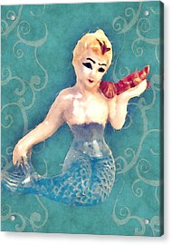 Mermaid Swirl Acrylic Print by Flo Karp