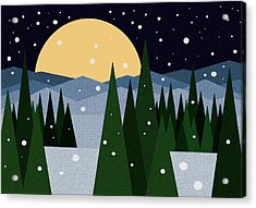 Merry Christmas Acrylic Print by Val Arie
