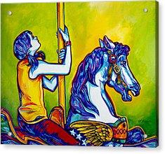 Merry-go-round Acrylic Print by Derrick Higgins